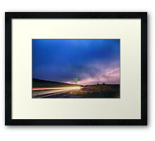 Cruising Highway 36 Into the Storm  Framed Print