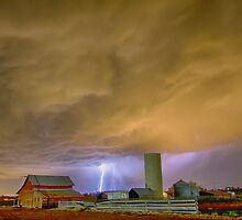 Thunderstorm Hunkering Down On The Farm by Bo Insogna