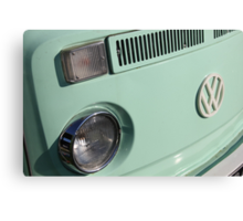 VW Camper Van Badge - Mint Green Canvas Print