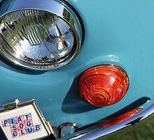Blue Fiat 500 Head Lamp by jodilei