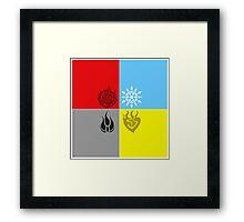 RWBY Symbols 2 Framed Print