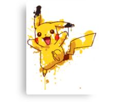 Pikachu Splatter Canvas Print