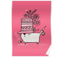 Cup of Tea Cat Poster