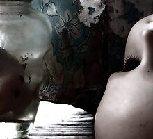 Dolls Heads on Table by Kim-maree Clark