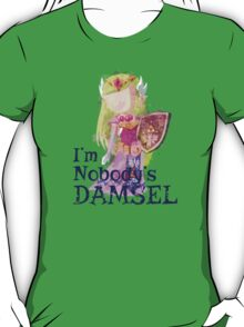 Zelda's Nobody's Damsel in Distressed Font T-Shirt