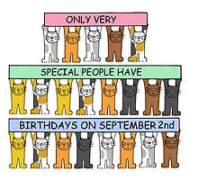 Cats celebrating birthday on September 2nd. by KateTaylor