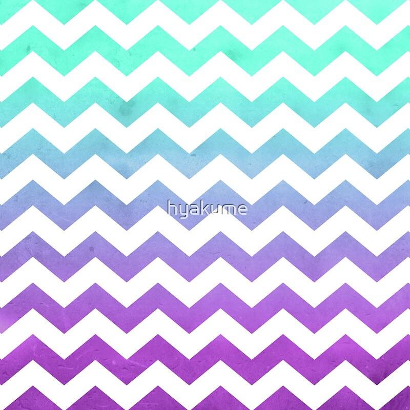Blue ombre chevron pattern - photo#2