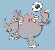 A Rhinoceros is the New Star of Soccer by Zoo-co
