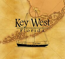 Key West Sailing Map by BailoutIsland