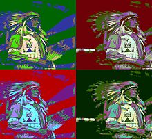 Indian Chief Pop Art 2 by Icarusismart