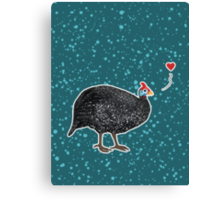 Guinea Fowl love Canvas Print