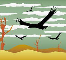 Free Bird Illustration by DFLC Prints