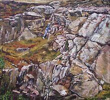 Climbing the rock by CamphuijsenArt