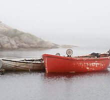 Two Boats In Peggy's Cove by Gary Chapple