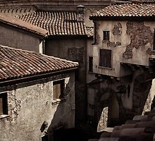 Old rustic Venetian houses antique architecture art photo print by ArtNudePhotos