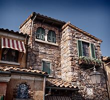 Old Venetian style house with stone walls art photo print by ArtNudePhotos