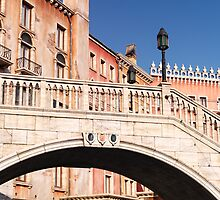 Arched bridge Venetian architecture details art photo print by ArtNudePhotos