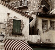 Old rustic Venetian houses architecture detail art photo print by ArtNudePhotos