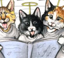 carols by kittens Sticker