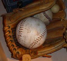 Baseball Mitt and Ball by WildestArt
