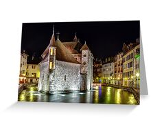 Palais de l'Isle in Annecy, France Greeting Card