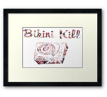 Bikini Kill Floral Logo Framed Print
