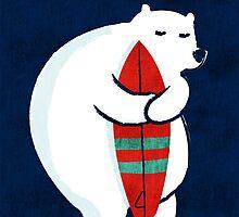Surfing Polar Bear by Budi Satria Kwan