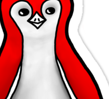 Angry Red Penguin Sticker