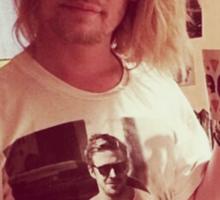 Ryan Gosling in Macauley Culkin Shirt Inception Photo Sticker