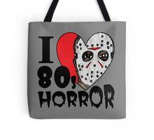 I Heart 80s Horror Tote Bag