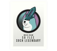 Suicune Such Legendary (Text) Art Print