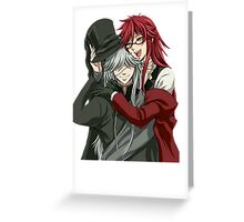 Grell, and Undertaker  Greeting Card