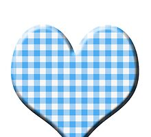 Blue Gingham loveheart (Digital composition) by funkyworm