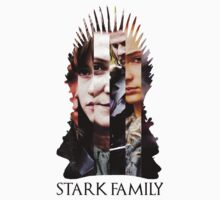 The Stark Family - Game of Thrones by ArtichokesQueen