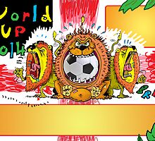 THE WORLD CUP BRAZIL 2014 POSTER FOR VENUE 3 LIONS by stickypencil