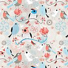 pattern love birds  by Tanor