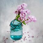 Lilacs in a Green Jar by LouiseK