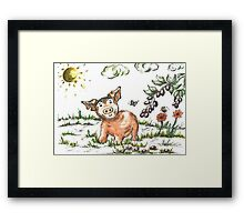Junior Pig Framed Print