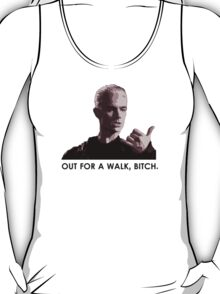 Spike, out for a walk - dark font (TANK/SCOOP TOP) T-Shirt