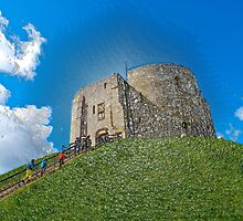 York, Cliffords tower in plastic by Robert Gipson