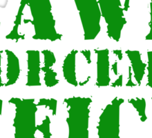 Lawn Enforcement Officer Sticker