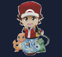 Chibi Pokemon Trainer Red by Ultimachu