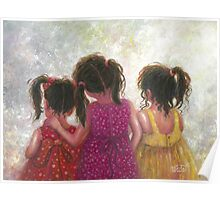 Three Little Sweet Pea Sisters Poster