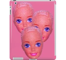 glitter barbie heads iPad Case/Skin
