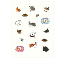 Caturday is Everyday Art Print