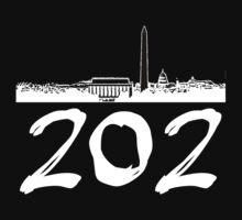 Washington D.C. - 202 (White Logo) Kids Clothes