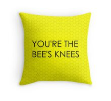 You're the Bee's Knees (Honeycomb Background) Throw Pillow