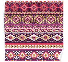 Navajo colorful  tribal pattern with geometric elements Poster