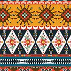 Seamless colorful  native american pattern  by tomuato