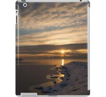 Bright, Icy Daybreak on the Lake iPad Case/Skin